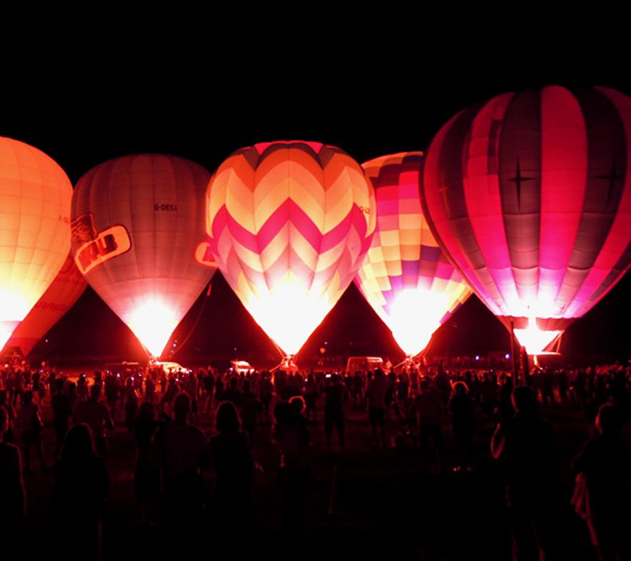 Nignt glow mongolfiere