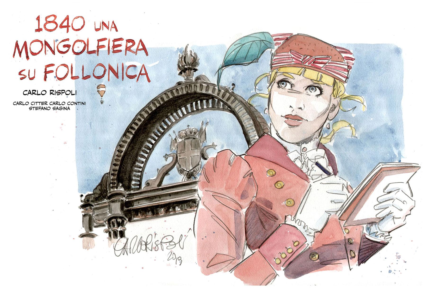 Cover fumetto inedito su Follonica di Carlo Rispoli